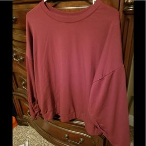 | Fabletics Cinched Pullover (Maroon) Size Small |